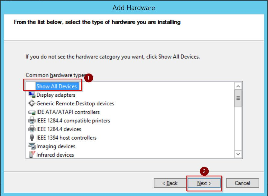 Show All Adapter Device