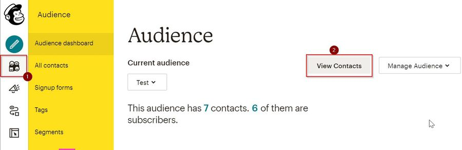 Mail Chimp Audience Dashboard