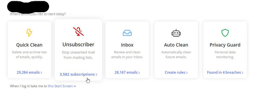 Clean Email App Option