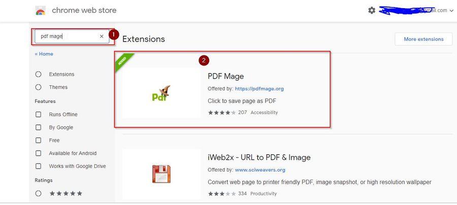 Search PDF Maze Extension