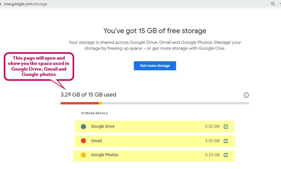Google Storage Status Check