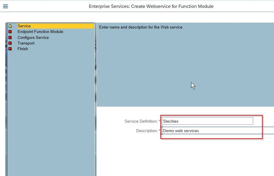 description of web service