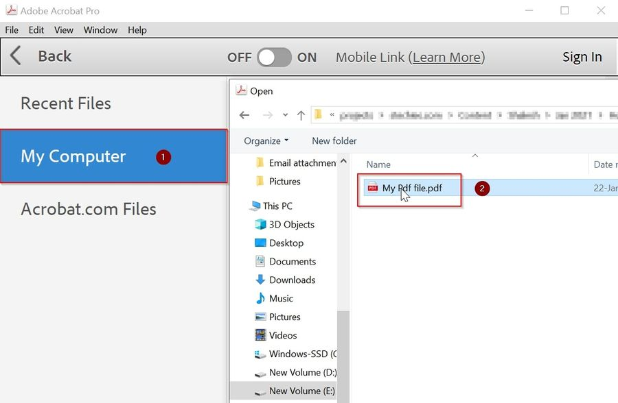 Open file to edit in Acrobat