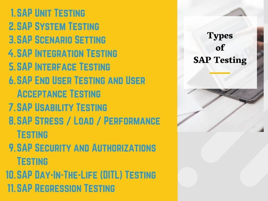 Types of SAP Testing