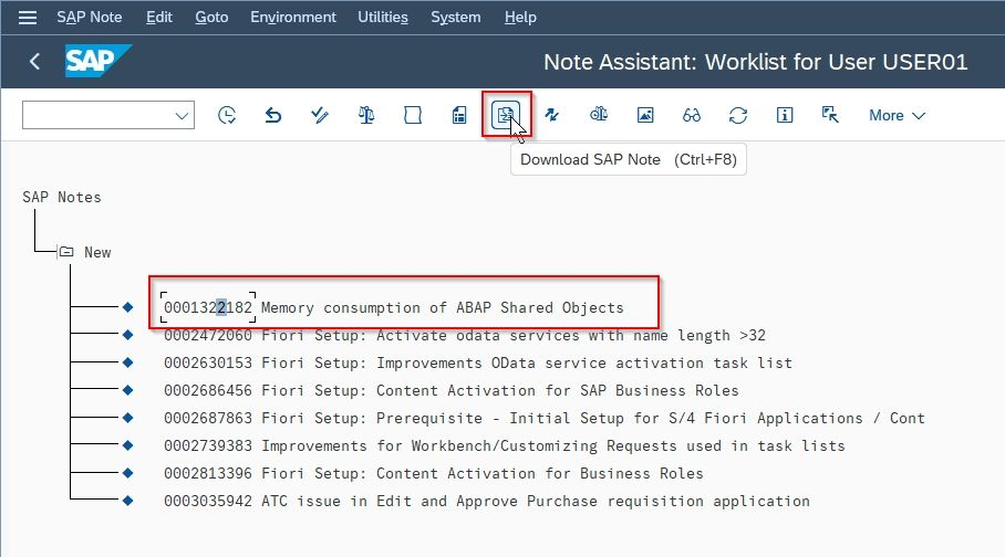 SAP Note Download