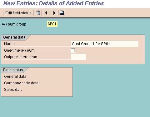 Account Groups with Screen Layout