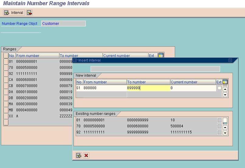 Create Number Ranges
