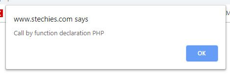 Call PHP Function from JavaScript