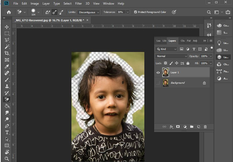 How to Make Background Transparent in Photoshop-5