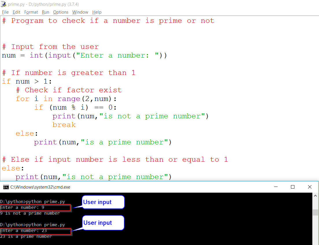 Python Prime Number Using For Loop
