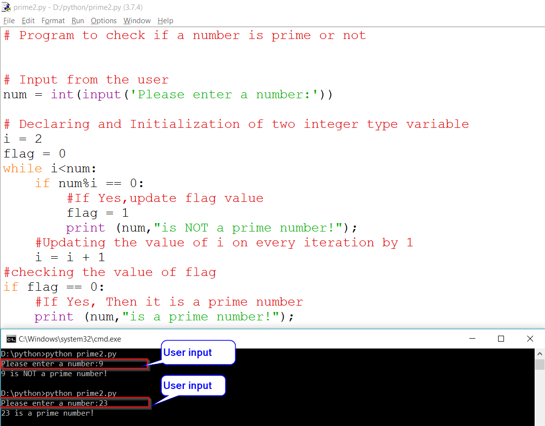 Python Prime Number Using While Loop