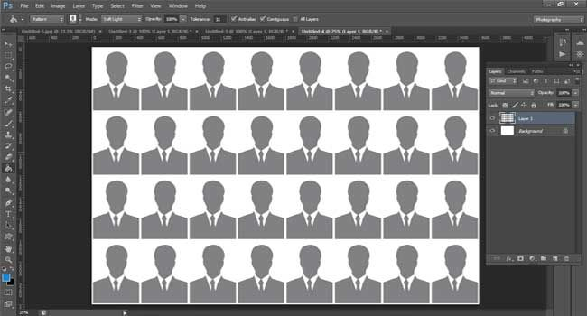 Print Passport Size Photo In A4 Photo Paper Photoshop 32 Copies